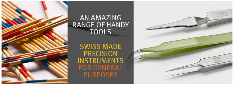 High Precision Swiss Tweezers - General Category Tweezers