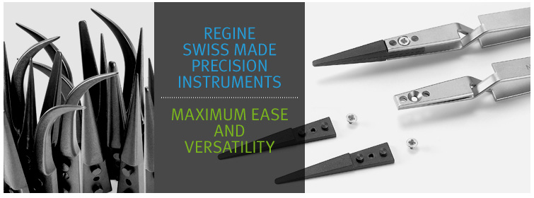 High Precision Swiss Tweezers - Replaceable tips
